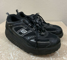 Skechers Shape Up All Black Comfort Lace Up Shoe Size Womens 9.5