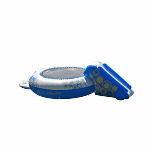 RAVE Sports Inflatable Floating O Zone XL Plus Water Jumper Bouncer with Slide