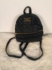 bebe los angeles small backpack purse black quilt pattern