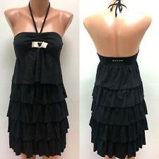TWIN SET - Simona Barbieri Beachwear Gr.M Kleid Schwarz LOGO Stufen