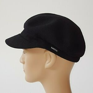 KANGOL Sale  Mütze Elbsegler  Gr. L  Wolle Angebot schwarz Kappe Cap