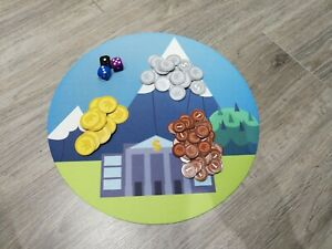 Machi Koro Playmat 12 inch round bank - Playmat  - Boardgame Playmat Plain