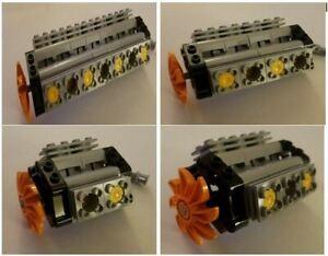 Lego Technic V4 V6 V8 V10 V12 V14 .. V20 Engine NEW (Motor, Shaft,Propeller,Car)