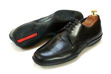 Prada Men's Black Leather Lace-up Casual Sneaker Shoes Size 10.5 /9.5 EU