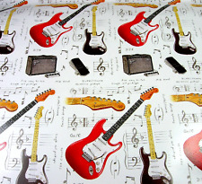 Fender Guitar Wrapping Paper with 3 Sheets in a Pack - Musical Themed Paper