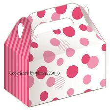 8 Box Premium Gloss Polka PINK Party Event Bomboniere Favour Candy SMALL Gable