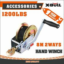 X-BULL Strap Hand winch 1200LBS/550KGS 2-Way For Boat,Trailer and 4WD