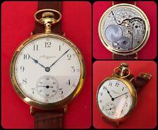 EILGIN-pocket watch turned by wrist-vintage mechanical manual-jumbo-50mm-rare