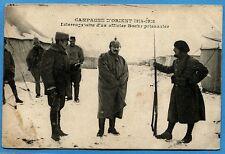 CPA: Campagne d'Orient 1914-1918 - Interrogatoire d'un officier Boche prisonnier