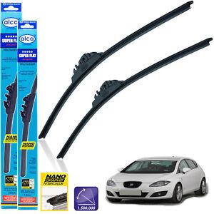 """Fits Seat Leon 2005-2012 Front Wiper Blades Alca Super Flat 26"""" 26"""" Pt"""