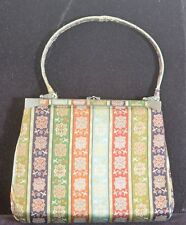 TRES CHIC!  VINTAGE SILK BROCADE TATSUMURA PURSE BAG SATCHEL TT641