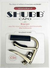 Shubb C5n Brushed Nickel Banjo/Mandolin Capo