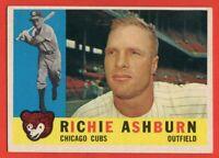 1960 Topps #305 Richie Ashburn EX-EX+ WRINKLE Philadelphia Phillies FREE SHIP