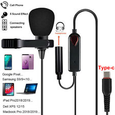 Lavalier Mikrofon Clip On Ansteckmikrofon Microphone TYPE-C für Android Samsung