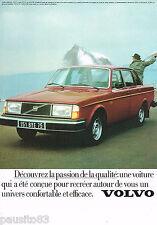 PUBLICITE ADVERTISING 065  1979  VOLVO  244 GL  11CV