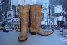 GORGEOUS Old GRINGO Leather Orange pink Cowboy Boots BOOT Size US 7.5 so Sexy!