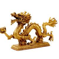 Messing Drache (Glück & Erfolg bedeuten) Handgemachte Statuen Dekoration