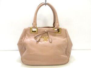Auth PRADA Pink Leather Handbag