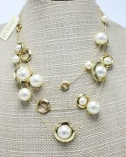 New Gold Tone Necklace with Simulated Pearls $30.50 Tags from Macy's #M3