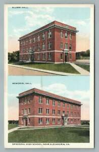 Episcopal High School ALEXANDRIA Virginia RARE Antique Multiview PC~1920s