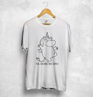 Moomin Real Unicorns Have Curves T Shirt Top So Sweet Love Gift Japanese Style