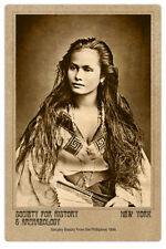 SANGLEY BEAUTY PHILLIPINES 1898 Photo Vintage Cabinet Card CDV Reproduction