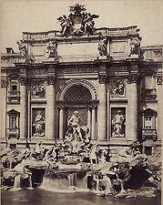 Fontana di Trevi Photo Sommer Italie Italia Vintage albumine ca 1870