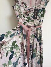 Ladies Flowery Designer Summer Phase Eight Adele Dress Wedding Party  Size 10 Uk