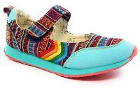 Womens Aztec Shoes Rainbow Gay Pride Hippie Unicorn Unique Size 7.5