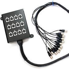 Calidad Pro - 20m 12 ENTRADAS XLR 3 pines Multiconductor Telar / Serpiente Cable