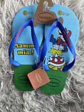 Mens Super Mario Bros Havaianas Flip Flops New - Size UK9-10 Mens Free Delivery