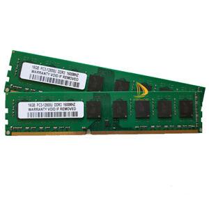 Nur für AMD 2x 16 GB 2Rx4 PC3-12800 DDR3 1600 MHz Desktop-Speicher RAM CL11 1.5V