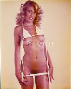 Original Nude Large (8 x 10) 1970s-80s Color Photo- Endowed Blond- String Bikini