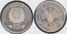 AFGANISTAN - AFGHANISTAN. 500 AFGHANIS DE 1981. PLATA 0.900.