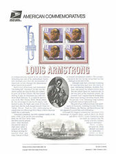 #467 32c Louis Armstrong Jazz Musician #2982 USPS Commemorative Stamp Panel