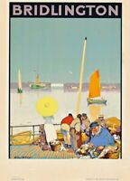 Bridlington, Yorkshire, 1922, Dudley Hardy, English Railway Travel Poster
