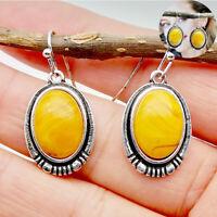 Earring Wedding Women Drop Dangle Jewelry Vintage 925 Silver Eardrop Beeswax