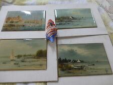 les bateaux voiles, ,les barques  décor maritime  4piéces