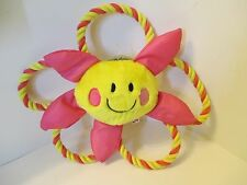 NEW DOG IT HAPPY LUV Pink & Yellow Rope Dog Tug Toy with Squeaker~LAST ONE!!