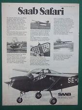 10/1975 PUB SAAB SCANIA AEROSPACE AVION SAAB SAFARI AIRCRAFT ORIGINAL AD