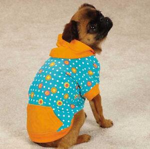 Dog Blooming Brights Pullover T-Shirt Hoodie Tee Top  Pet Hood East Side Col