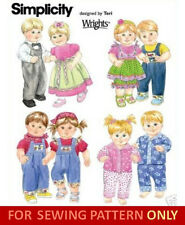 "SEWING PATTERN! MAKE BABY DOLL CLOTHES! BOY~GIRL OUTFITS! BITTY TWINS~15"" DOLLS!"