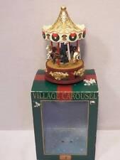 "1998 Maisto Village Carousel Animated Musical 9"" Christmas Display WORKS VIDEO"