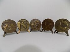 FRANCE : Very Nice and Large Bronze Medal Collection W/ Stands