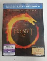 The Hobbit 3D Trilogy Collectible Limited Edition 3D Blu-ray / Blu-Ray / DVD NEW