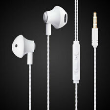 Earbuds Universal White Metal Stereo Handsfree Headphones Premium