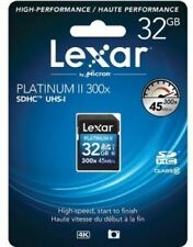 Lexar® PLATINUM II 32GB SDHC™ UHS-I 300x 45MB/s U1 C10 High-Performance SD Card