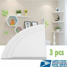 3Pack Corner Shelf Floating Radial Wall Shelves Mount Storage Rack Display Decor