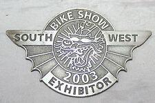 MOTOR Bike Show Sud Ovest 2003 ESPOSITORE BADGE timbrato firmato sul retro J&T