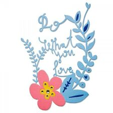NEW Sizzix Thinlits 660481 Do What You Love floral metal cutting craft die